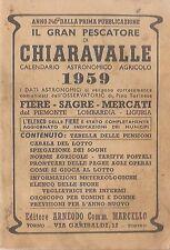 CHIARAVALLE 1959 CABALA SOGNI  PESCATORE PIEMONTE LOMBARDIA LIGURIA ARNEODO