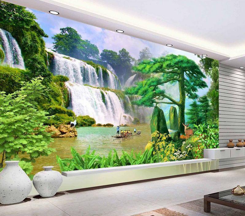 3D Mega Waterfalls Scenery2468 Wall Paper Wall Print Decal Wall AJ Wall Paper
