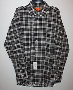NEW-Tallia-Mens-Size-XL-Black-Plaid-Casual-Button-Front-Shirt-Long-Sleeve-Blue