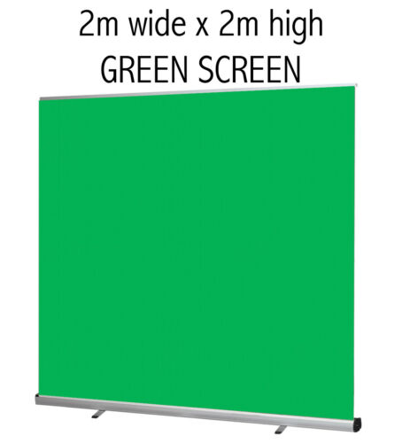 2m Extra Wide Fully Portable Green Screen Photographic Video Background Backdrop