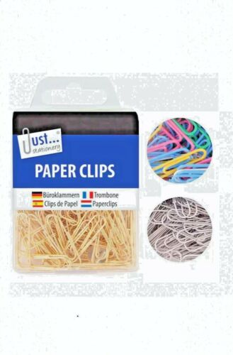 120* Sliver Home Office Multi colour /& Gold Wavy Paper Clips Boxed School