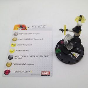 Heroclix-Chaos-War-set-Genis-Vell-027-Uncommon-figure-w-card