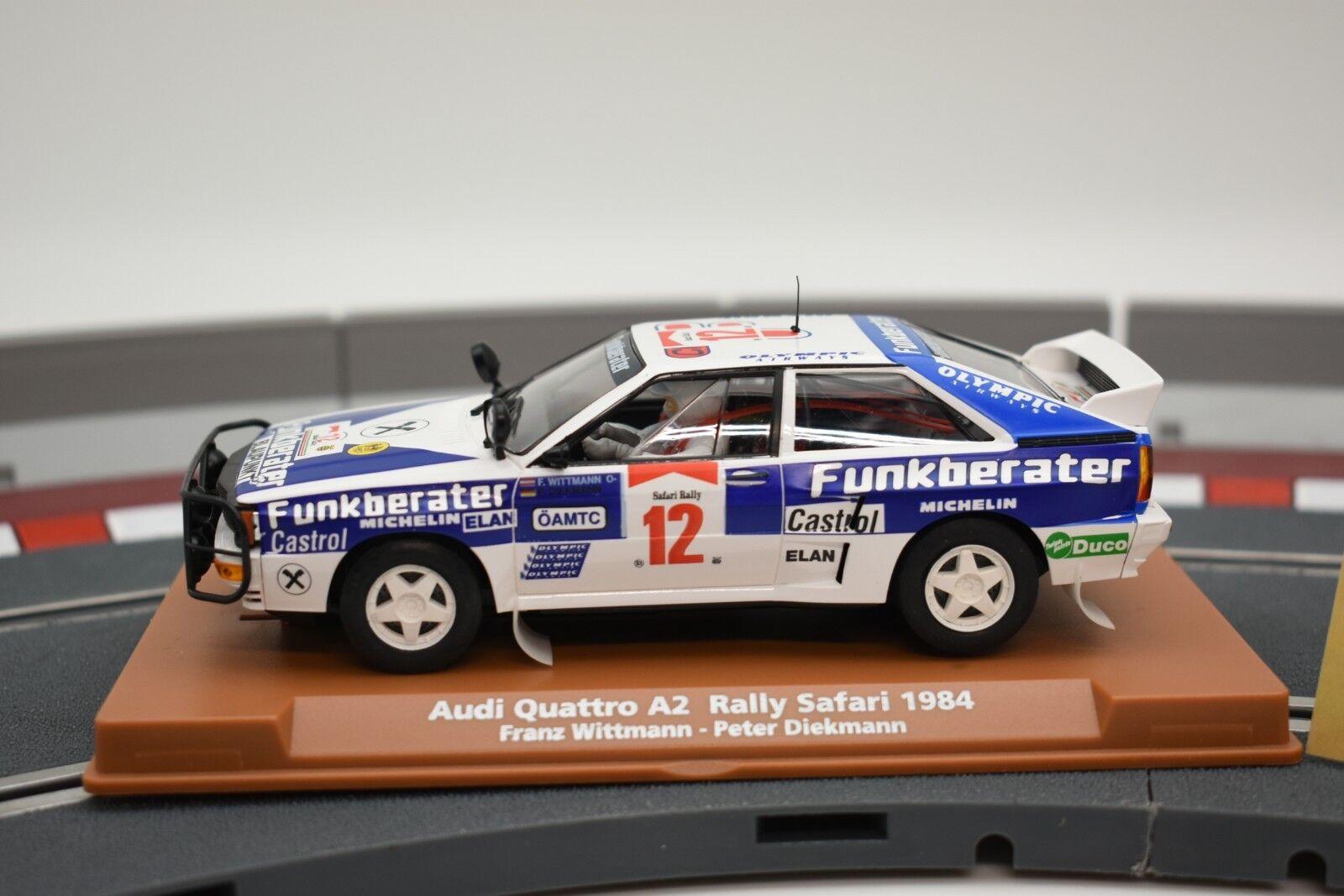 96097 FLY CAR MODEL 1 32 SLOT CAR AUDI QUTTRO A2 SAFARI RALLY 1984