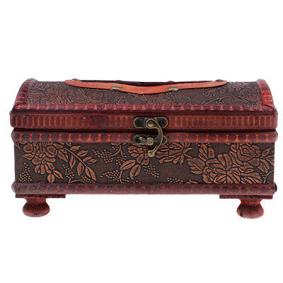 Vintage Chinese Style Wood Tissue Box Holder Tissue Box Cover Grape Pattern