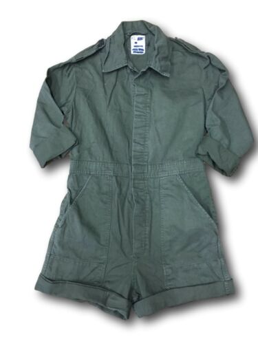 Ladies Re-Made Army  Playsuits Good Sizes Olive Green