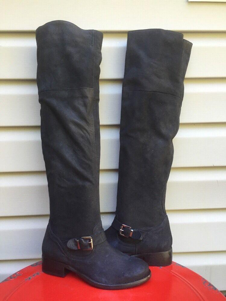 Kurt Geiger London ceniza rodilla alta botas de de de montar Hebilla Negro Talla 8.5  nuevo   385  en linea