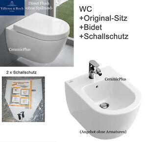 villeroy boch subway 2 0 bidet wand wc ohne sp lrand sp lrandlos directflush ebay. Black Bedroom Furniture Sets. Home Design Ideas