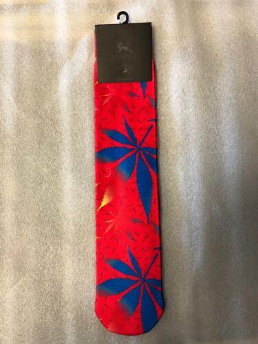 ODDITIES brand Pot Leaf socks red blue skater weed men women OSFM NEW