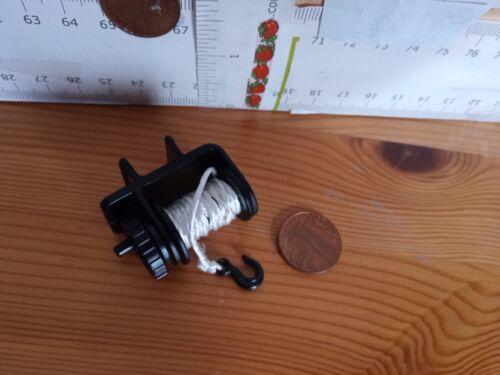4811 PLAYMOBIL Ricambi Nuovo Verricello Reel//Avvolgitore bobina /& Manovella Gancio assemblato