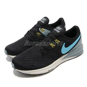 0b8f6f0d4d798 Nike Air Zoom Structure 22 Black Blue Grey Men Running Shoes ...