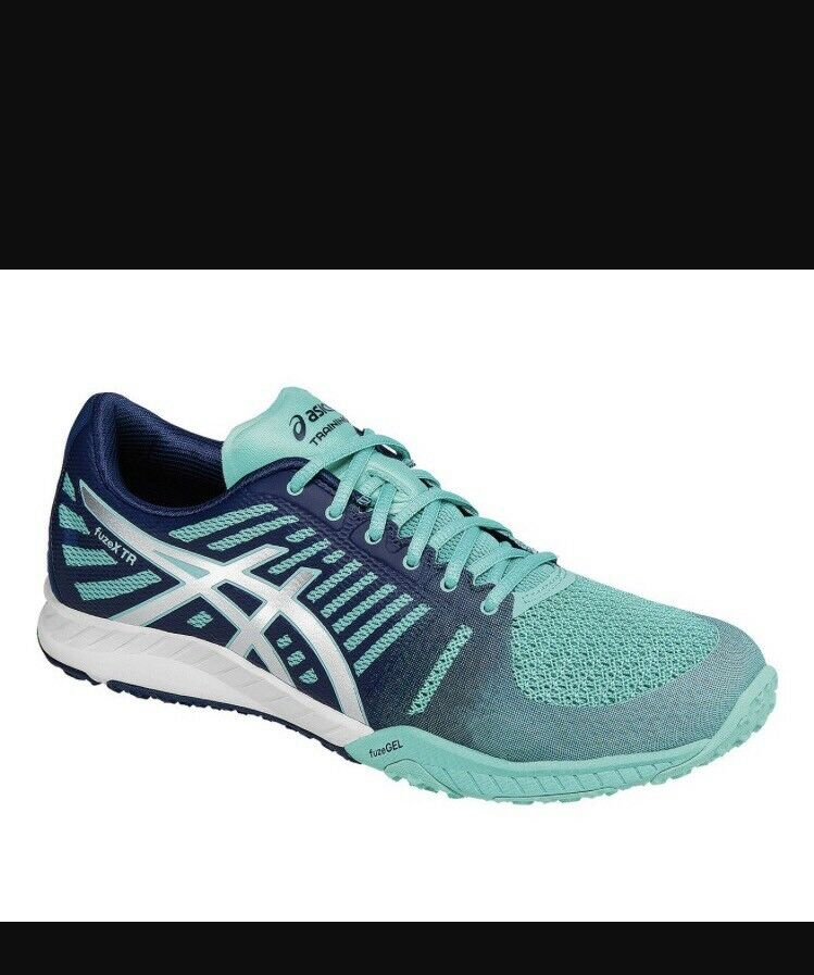 NWT Womens Asics FuzeX TR, Mint/Navy  S663N, Sz 9 New shoes for men and women, limited time discount