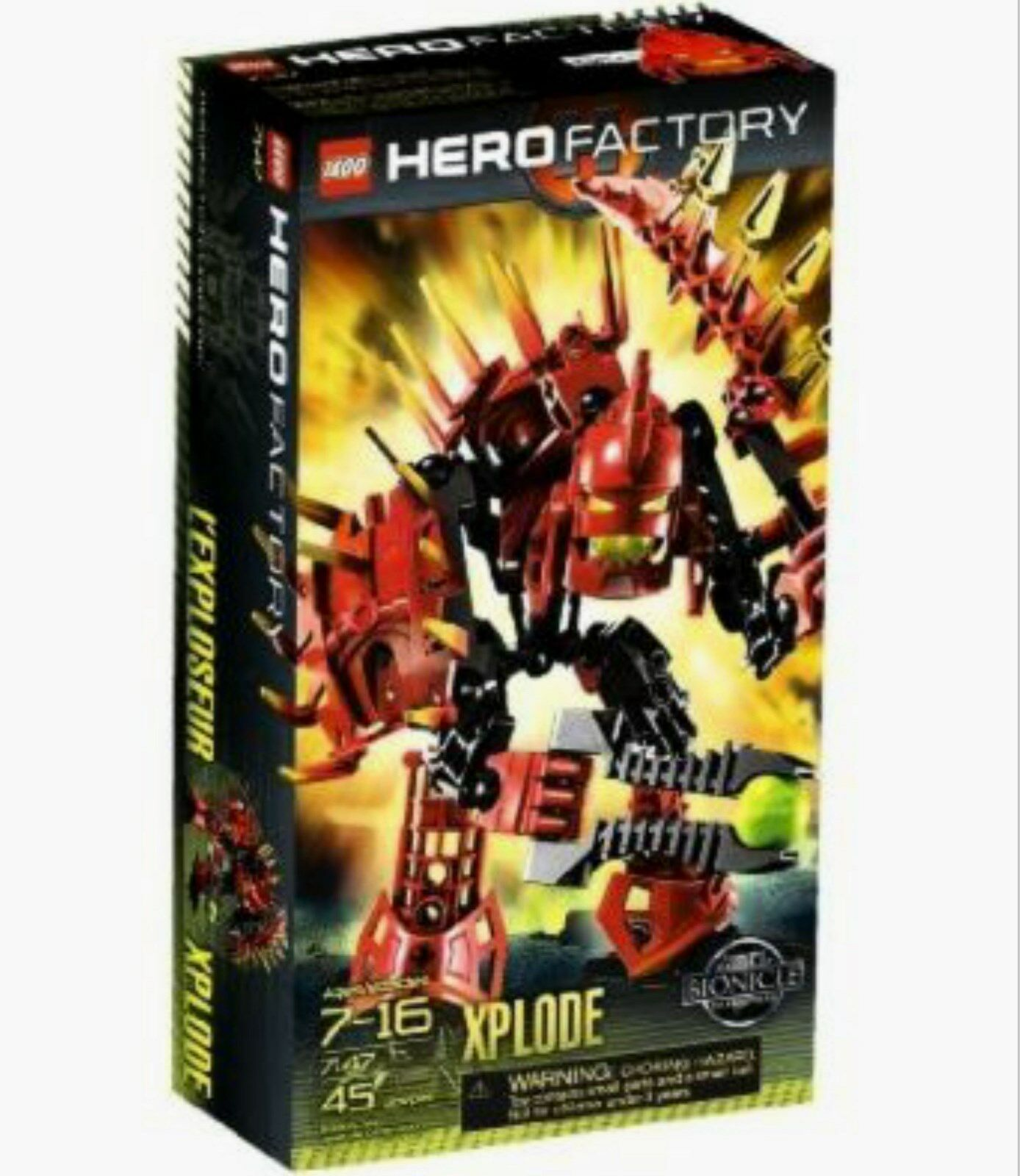 Lego Bionicle Hero Factory 7147 XPLODE XPLODE XPLODE Factory Sealed 45 Pieces 2010 fada17
