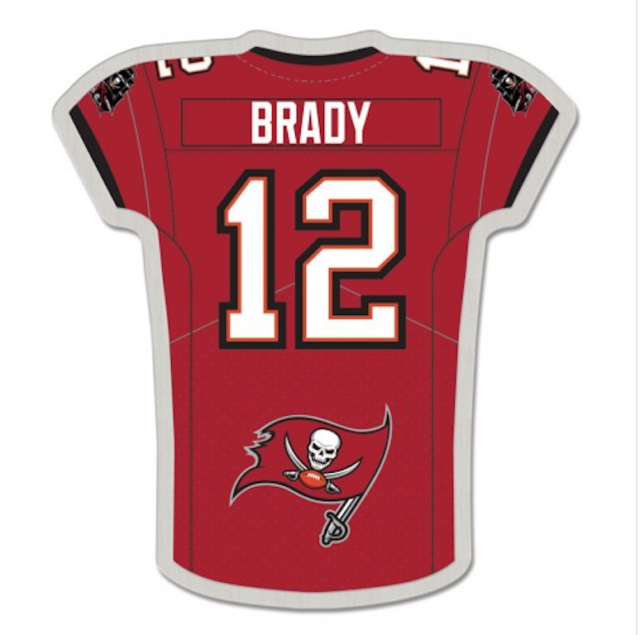 WinCraft NFL Captain Jersey Brady Tampa Bay Buccaneers 12 Lapel Pin