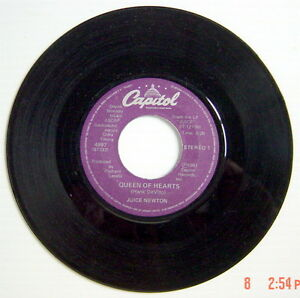 ONE-1981-039-S-45-R-P-M-RECORD-JUICE-NEWTON-QUEEN-OF-HEARTS-RIVER-OF-LOVE