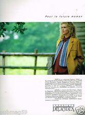 Publicité advertising 1990 Pret à porter vetement grossesse Veronique Delachaux