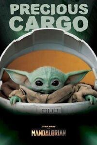 Star-Wars-The-Mandalorian-Precious-Cargo-POSTER-61x91cm-NEW-baby-yoda-in-pod