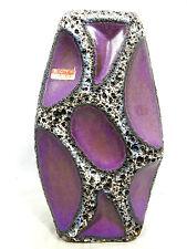 Rare 70´s design Roth Keramik vase pale purple Fat Lava glaze 309 18 cm