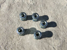 BLACK Singlespeed Chainring Crank Bolts 8mm BMX Fixed Gear Bike 5 Pack Steel