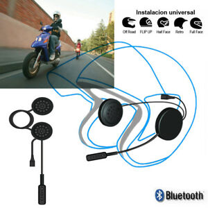 Handsfree-Bluetooth-Helmet-Interphone-Intercom-Motorcycle-Speakers-Headset-Music