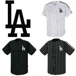 8df4c717 Image is loading Los-Angeles-LA-Dodgers-Button-Jersey-Striped-Baseball-