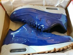 AUTHENTIC Nike Air Max 90 VT QS Royal Blue Gum Wolf Grey 831114 400 Mens sz