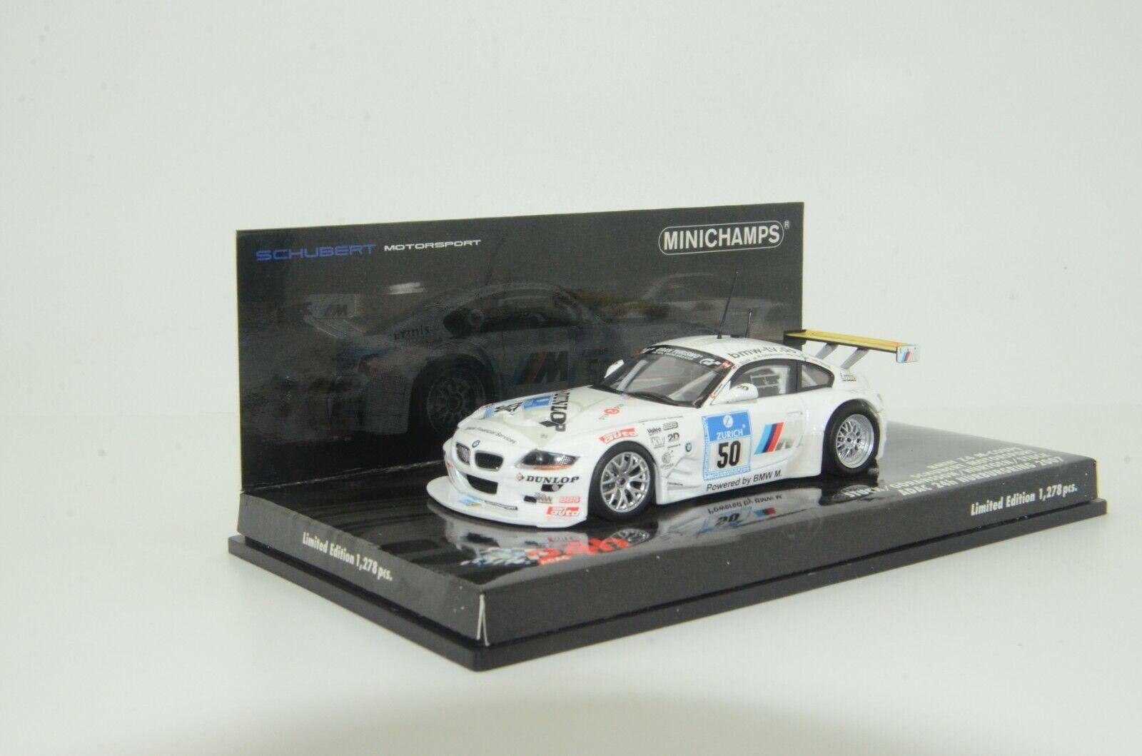 moda RARE RARE RARE    BMW Z4 M-Coupe Adac 24h Nurburgring 2007 Minichamps 72750 1 43  hasta 42% de descuento