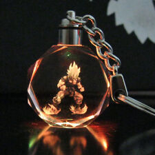 Dragon Ball Dragonball Z Saiyajin Goku Crystal Key Chain LED light Pendant E7