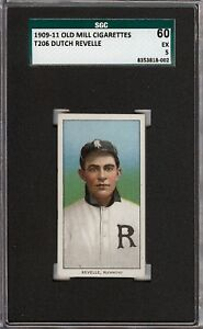 Rare 1909-11 T206 Dutch Revelle Old Mill Southern League Richmond SGC 60 / 5 EX!