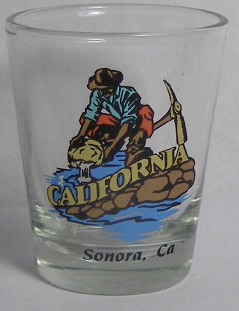 California Gold Miner Shot Glass #2918
