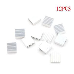 12pcs 14x14x6mm Small Anodized Heatsink Cooler w//Thermal Adhesive Tape ^DEL