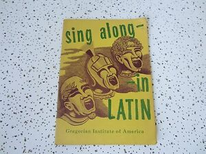 Sing-Along-in-Roman-Latin-A-Collection-of-Old-Favorite-Melodies-Gregorian-Ins