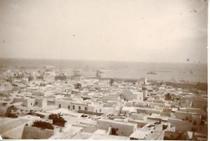Tunisie-Sousse-vue-panoramique-de-la-ville-Vintage-citrate-print-Tirage