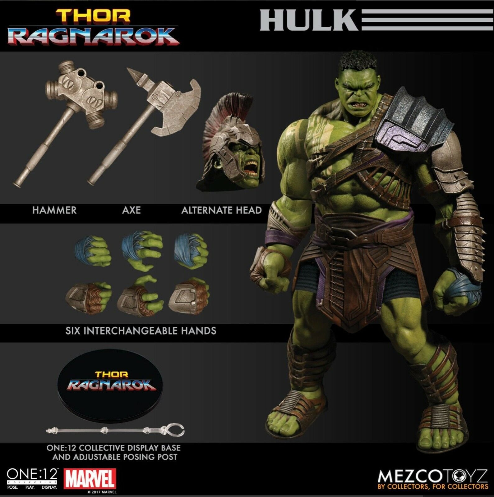 Mezco Toyz One:12 Collective GLADIATOR HULK Thor Ragnorok Banner Marvel shipping