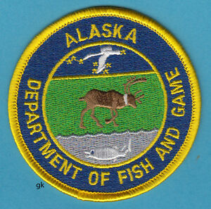Alaska department of fish and game police shoulder patch for Department of fish and game