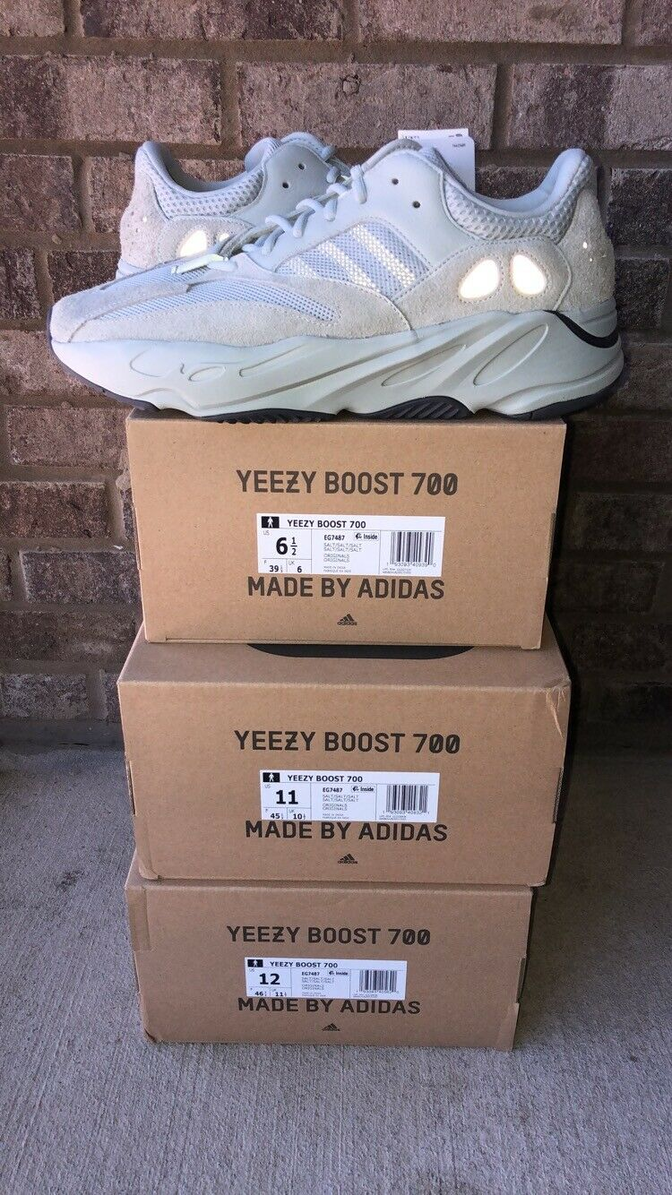9925a7673ca89 EG7487 Adidas Yeezy Boost 700 Mens Size 11 Salt Salt Kanye Deadstock Salt  West nnnmry5767-Athletic Shoes