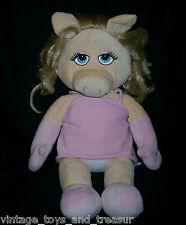 "18"" BUILD A BEAR MISS PIGGY STUFFED ANIMAL PLUSH TOY HAND PUPPET MUPPETS W DRESS"