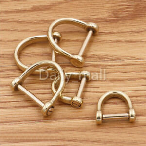Metal Shackle screw pin D-ring Joint Connect Keychain Anchor Chain hook 2 sizes