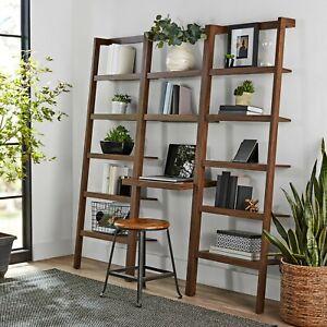 Large-Ladder-Bookcase-Computer-Desk-Bookshelf-Display-Shelving-Unit-Office-Room