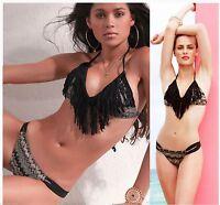 $158 L Space Sahara's Dream 2 Pc Audrey Fringe Top & Taboo Bottom Bikini Set