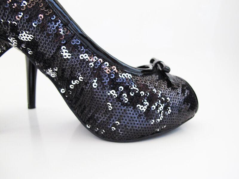 Noe High Heel damen Peep Toe schuhe Club Evening Special Special Special Occasion 4 inch Heels 3c0016