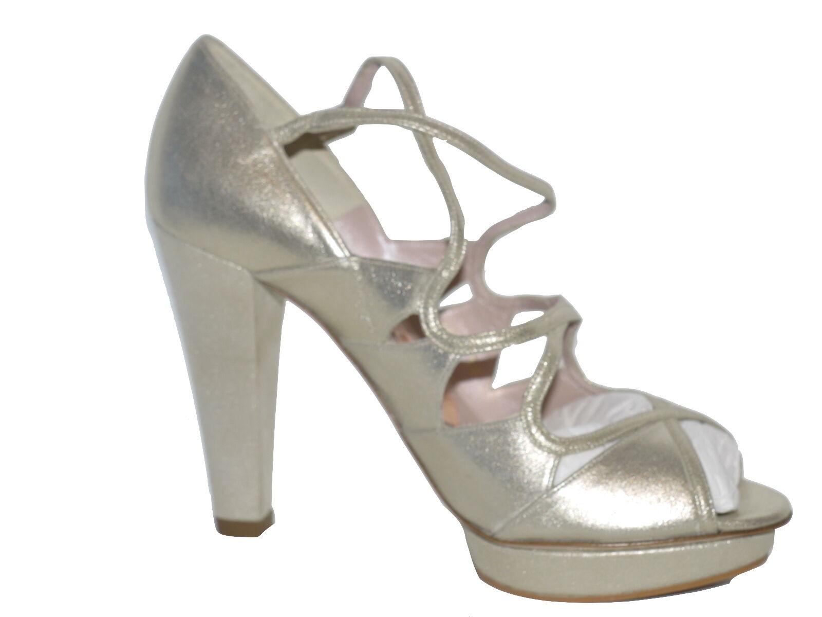 Magrit Metalic gold High Heeled Sandal NIB Size UK 4 EU 37 SP