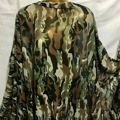 *NEW*Smooth Drapey Jungle-Camouflage Print Dress//Craft Fabric *FREE P/&P*