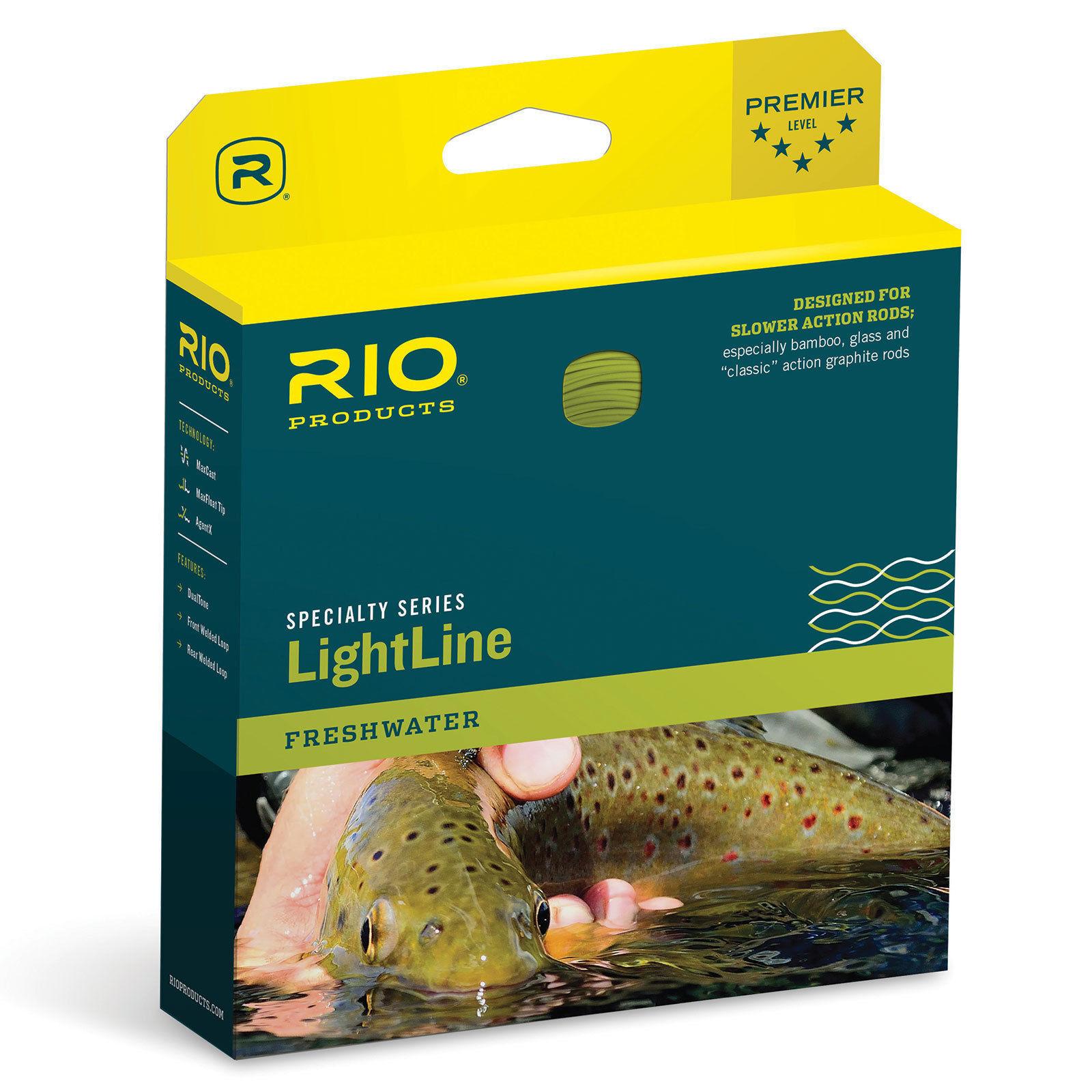 NEW RIO LIGHTLINE DT-1-F  1 DOUBLE TAPER FLOATING Fliegen LINE FOR BAMBOO, GLASS ROD