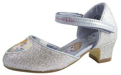 Infantil Disney Frozen Disfraz Zapatos PURPURINA PRINCESA Tacón Bajo