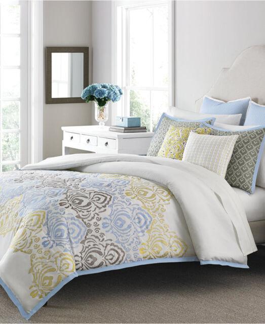 Delightful Martha Stewart Cape May 10 Piece QUEEN Comforter Set Bedding Retail $300  G1491