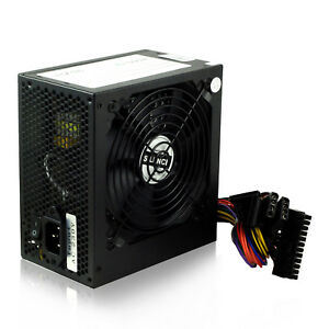 500W 12cm Silence Fan PC ATX Alimentation Ordinateur PSU AC 230V SATA 24 FR