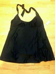 Nwt-BASIC-EDITIONS-Womens-plus-swim-dress-BLACK-22-24-26