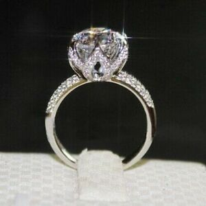 Image Is Loading Vintage 4 Ct Round Brilliant Cut Solitaire Sona