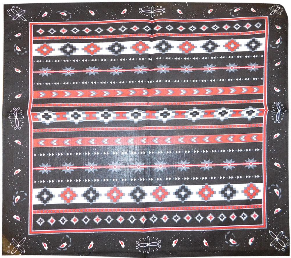 Wholesale Lot of 3 Tribal Aztec Paisley Black 22