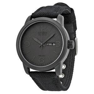 Citizen-Men-039-s-BM8475-00F-Black-Canvas-Strap-Eco-Drive-Watch